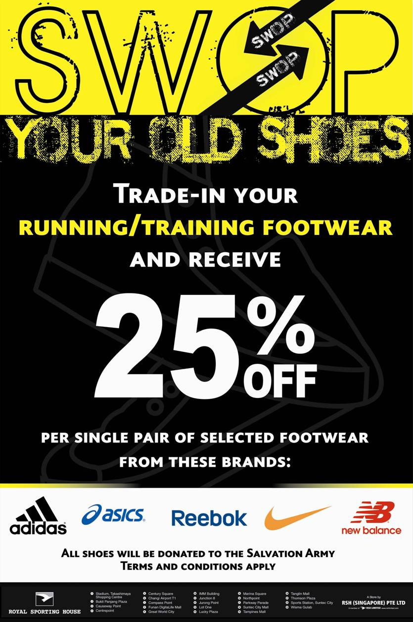 2065390e36 Trade-in your old shoes for discounts at Royal Sporting House ...